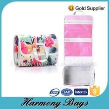 Beauty flower print women's travel folding cosmetic bag