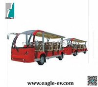 Electric sightseeing bus, electric shuttle bus with trailer, 29 seats, EG6158K