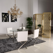 modern fancy glass dining table and chair