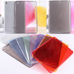 New ultra thin soft TPU transparent silicone clear case cover for ipad 6