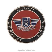 Round Baked Enamel Souvenir Coin Airport Metal Coin