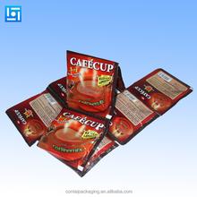 food grade laminated coffee powder packaging plastic zipper bag