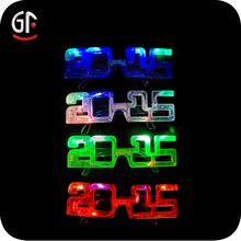 New Year Party Favor China Manufactured Number Party Sunglasses Led Light