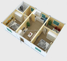 low cost house plans/ light steel structure house/ prefabricated houses container