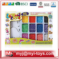 Meiyijia Direct selling hama plastic funny perler beads toy educational carton jigsaw puzzle BT-0057A