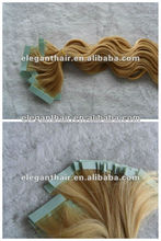 100% human fast shipping hot sale european remy tape hair extensions