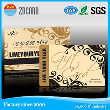 transparent plastic card for printing