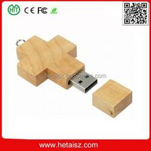 wooden cross shape usb flash drive, wood cross usb 64 gb, wood cross shaped usb 1tb