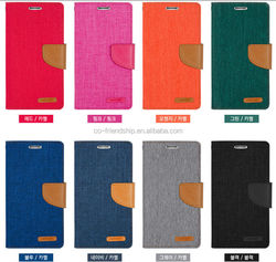 mercury goospery canvas diary wallet leather case, tpu cover case for iphone 5 5s