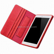 2015 QIALINO Hot sale top genuine leather cover for ipad air case For iPad