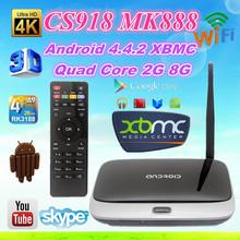 quad core RK3188 MK888 , CS918 android 4.4 hd media player Rockchips 3188 Quad core 1.8Ghz