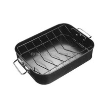 High quality chicken baking pan/carbon steel microwave baking tray/rectangular beef baking pan