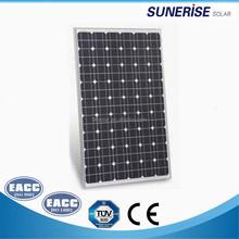 china factory cheap price monocrystalline 18v 36cells130w pv solar panel price 130watt