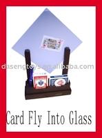 Offer Card penetrate glass,Magic Card,Poker,Tricky Poker,Toys