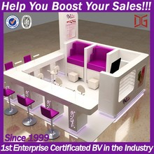 High end mall nail kiosk furniture products
