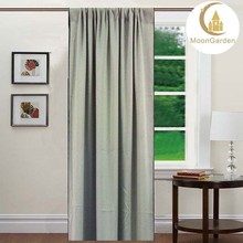 3 pass gray color blackout curtain/window curtain for living room