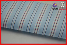 100% cotton men's shirting fabric yarn dyed striped fabric