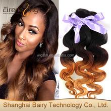 Eirene Virgin Brazilian Hair Weave 3 Tone Color Ombre Hair cheap brazilian hair weave