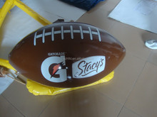 PVC inflatable replica American football with logo printed for advertising giveaway