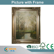 2015 New design wall oil paint picture with frame