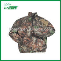 hunting half zip fleece jacket