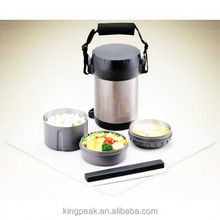 2015 Hot sale stainless steel vacuum thermos lunch box/stainless steel 304 thermos flask container /Metal lunch box