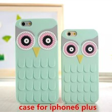 wholesale 3d soft bird owl silicone case phone case for iPhone6 plus