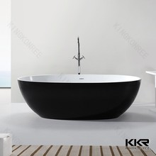 Modern design comporite stone gel coat egg shaped bath tub
