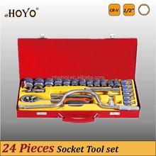 "1/2"" Dr.24PCS Socket Set/High Quality Ratchet Socket Set"