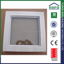 Small square white color aluminum fixed panel window