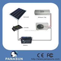 air condition solar powered with the photovoltaic and solar charger