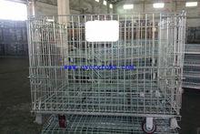 Warehouse storage welded mental galvanized wire mesh basket & container