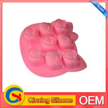 Newest hot selling foot shaped silicone cup cake mold