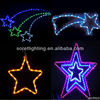 LED five-pointed star motif light