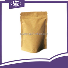 Custom Printing Brown Kraft Paper Grocery Packaging Bag Ziplock Valve Moisture Proof Stand Up Pouch For Coffee Beans Tea Bag