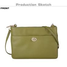 BANUCE 2015 Ladies Cowhide Leather Messenger Bag Long Strap High Quality Shoulder Bag For Girls