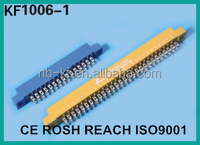 3.96mm 8pin 12pin 16pin 20pin blue clour gold plated solder type edge card connector