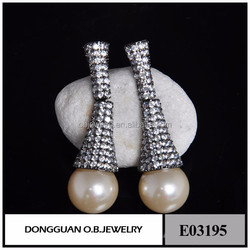New Arrival European and American High Quality Material Charming Fashion Pearl Earring for Women