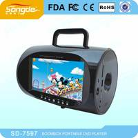 Cheap and very hot sale portable dvd player tv tuner and radio