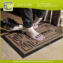 2014 New design welcome print cheap rubber cleaning foot mat, entrance mat