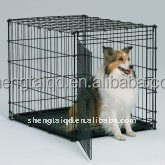 the black small beautiful dog crate pet cage of galvanized