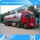 Jaw 8 * 4 de propano liquefeito do tanque de combustível caminhão transporte