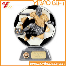 Polyresin/Metal material 2D/3D Football Trophy Cup with plating various color