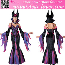 China sexy devil 7pcs Deluxe Fairytale Witch dance halloween costumes female