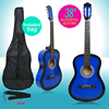"Beginners 38"" Acoustic Guitar Wooden Classical Guitar Steel String w/Bag"