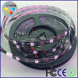 CE/ROHS/FCC approved WS2812B individually addressable strip 30 pixels per meter DC5V