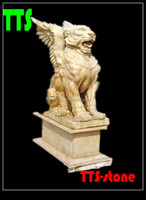 Marble decorative animal statues fly lion