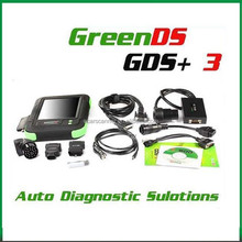 2015 Newest product original Universal Car Diagnostic Tool GreenDS GDS+3 Auto Diagnostic Tool cover most cars with Printers