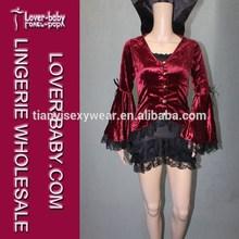 fangtastic giacca di velluto sexy nero e rosso vamp carnevale hlloween coppia costume