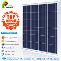 Powerwell Solar Top Supplier 100W PV Poly Solar Panel With CE/IEC/TUV/ISO